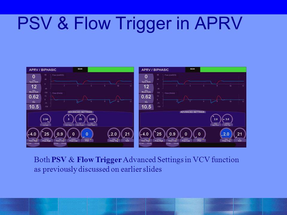 PSV & Flow Trigger in APRV