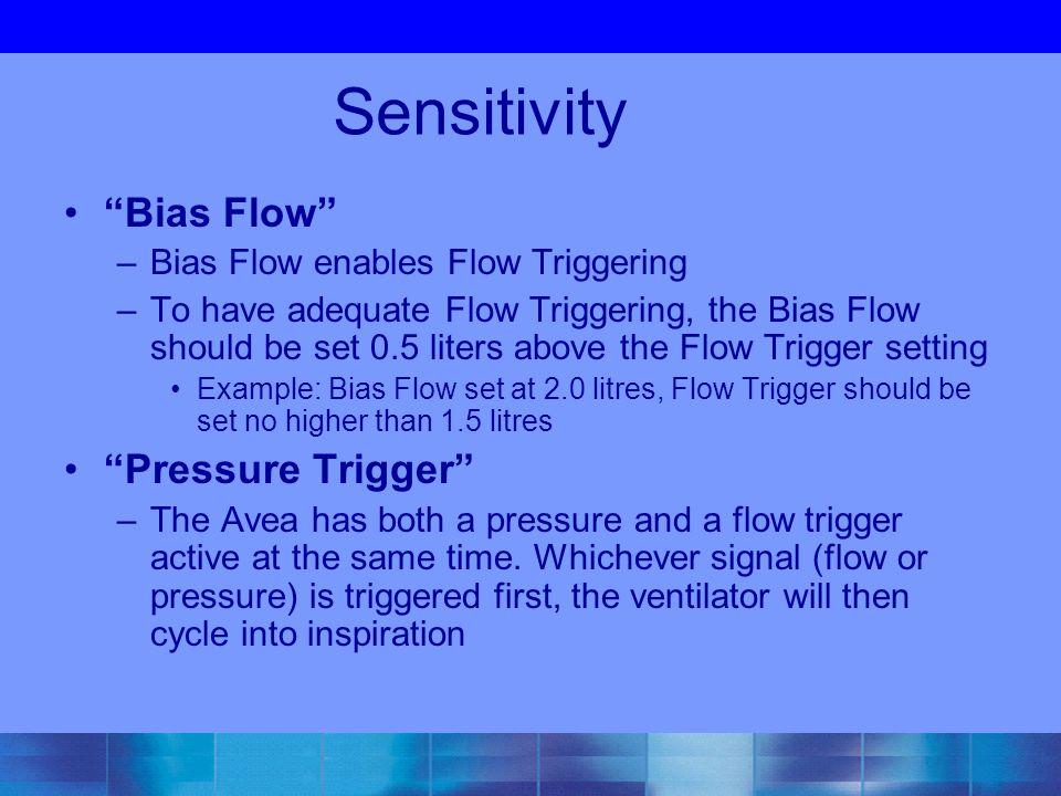 Sensitivity Bias Flow Pressure Trigger