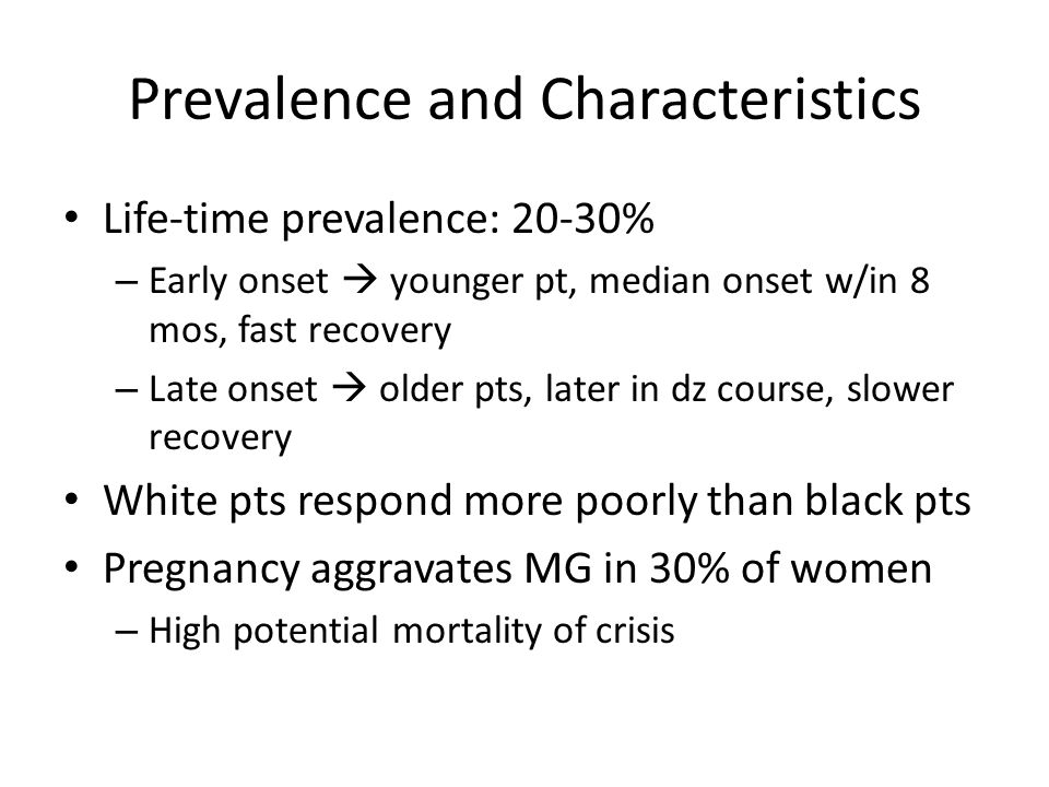 Prevalence and Characteristics