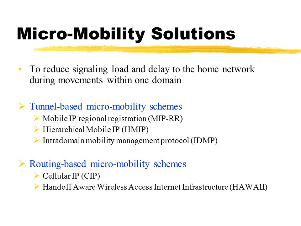 Micro-Mobility Solutions