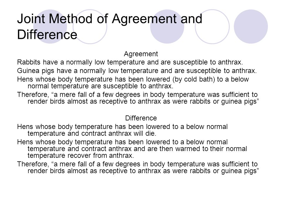 Joint Method of Agreement and Difference