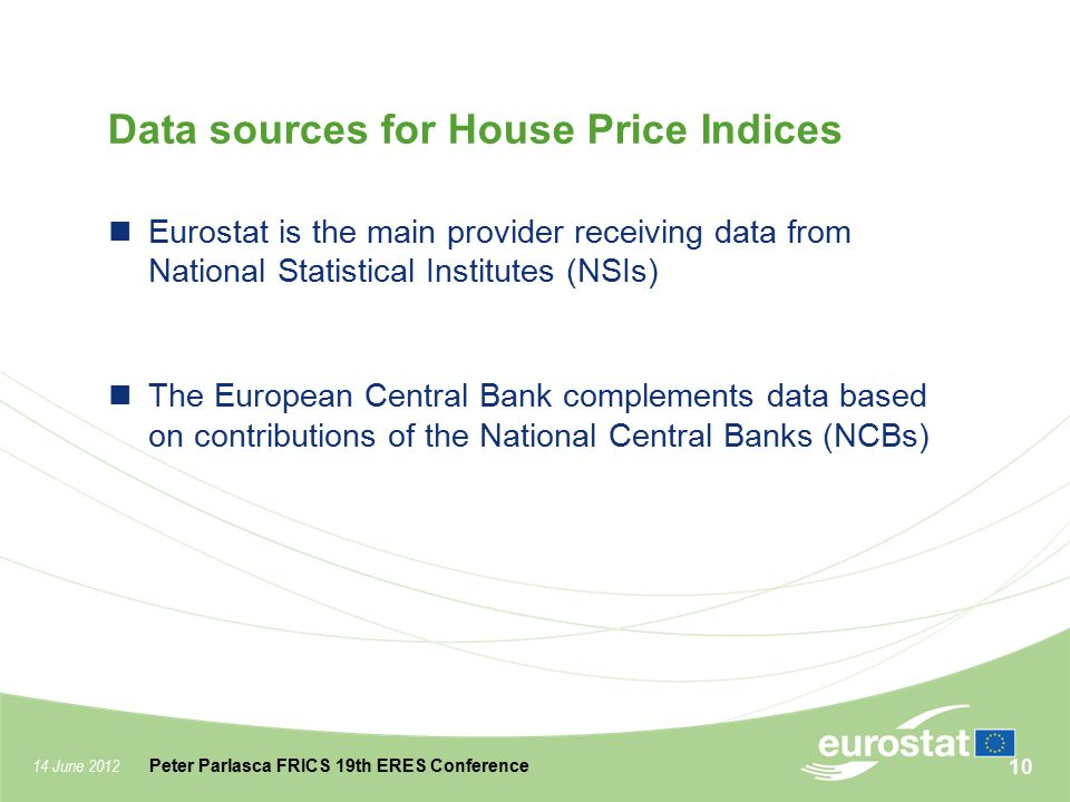 Data sources for House Price Indices