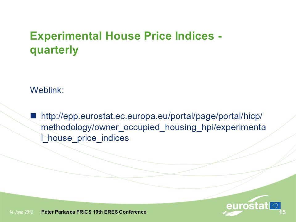 Experimental House Price Indices - quarterly