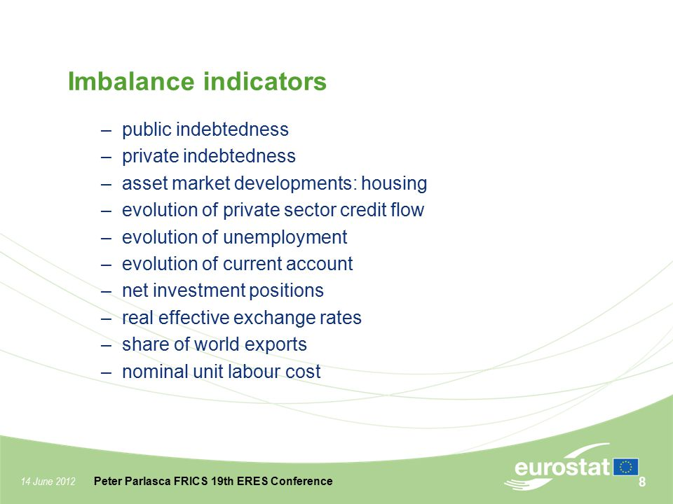Imbalance indicators public indebtedness private indebtedness