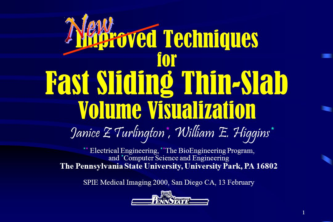 Improved Techniques for Fast Sliding Thin-Slab Volume Visualization
