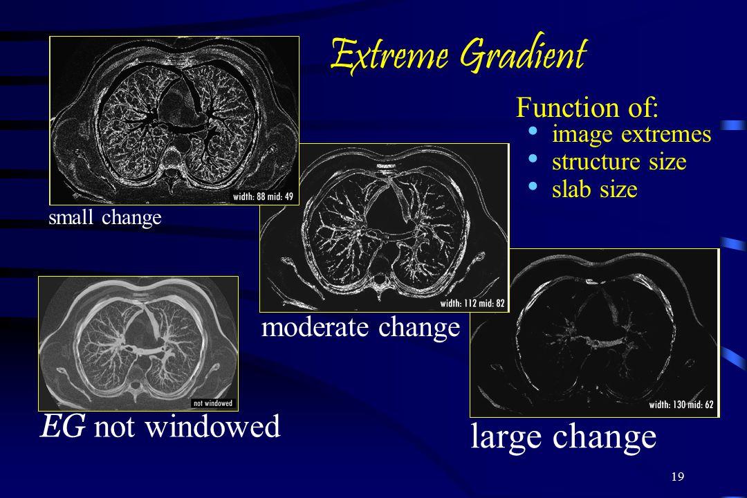 Extreme Gradient large change EG not windowed Function of: