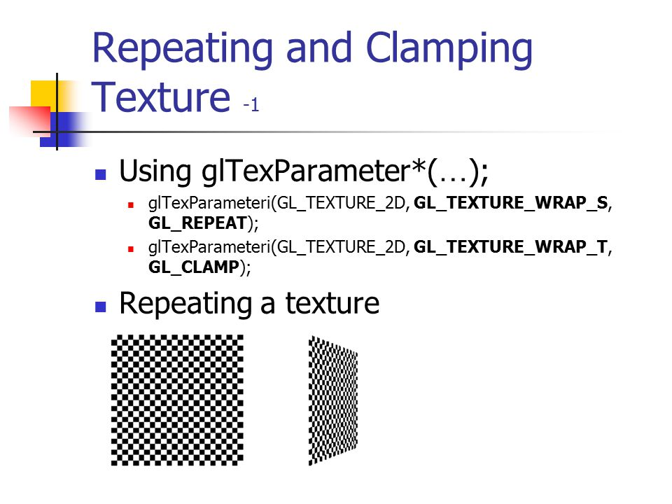 Repeating and Clamping Texture -1