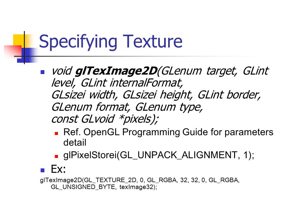 Specifying Texture