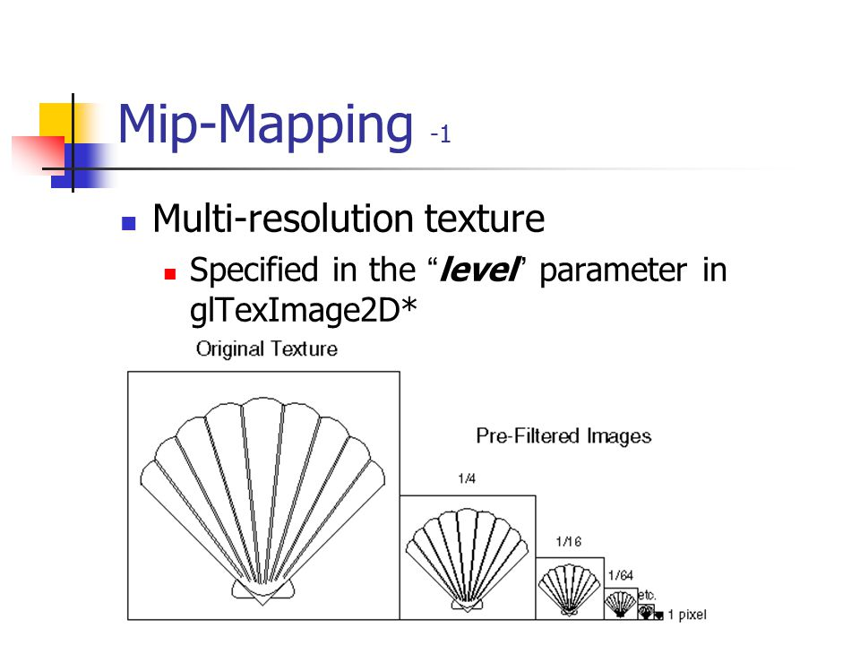 Mip-Mapping -1 Multi-resolution texture