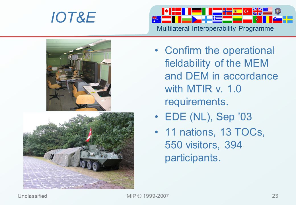 MIP Standard Briefing 8 December 2006