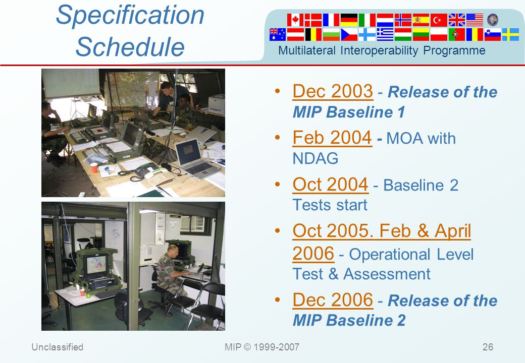 Specification Schedule
