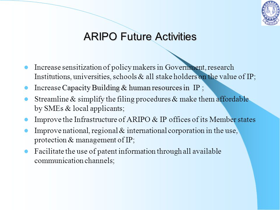 ARIPO Future Activities