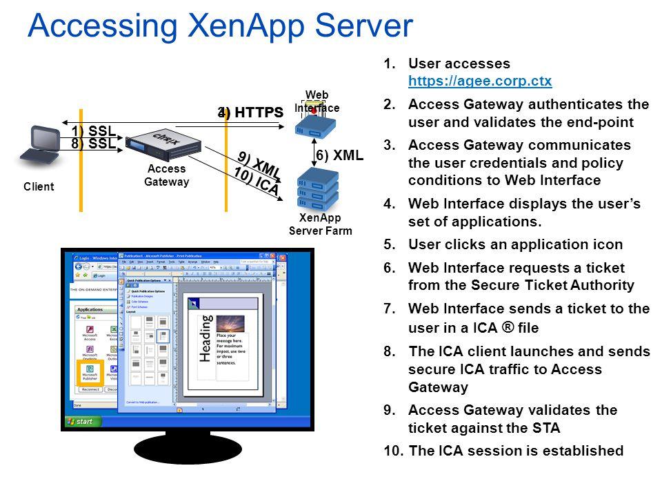 Accessing XenApp Server