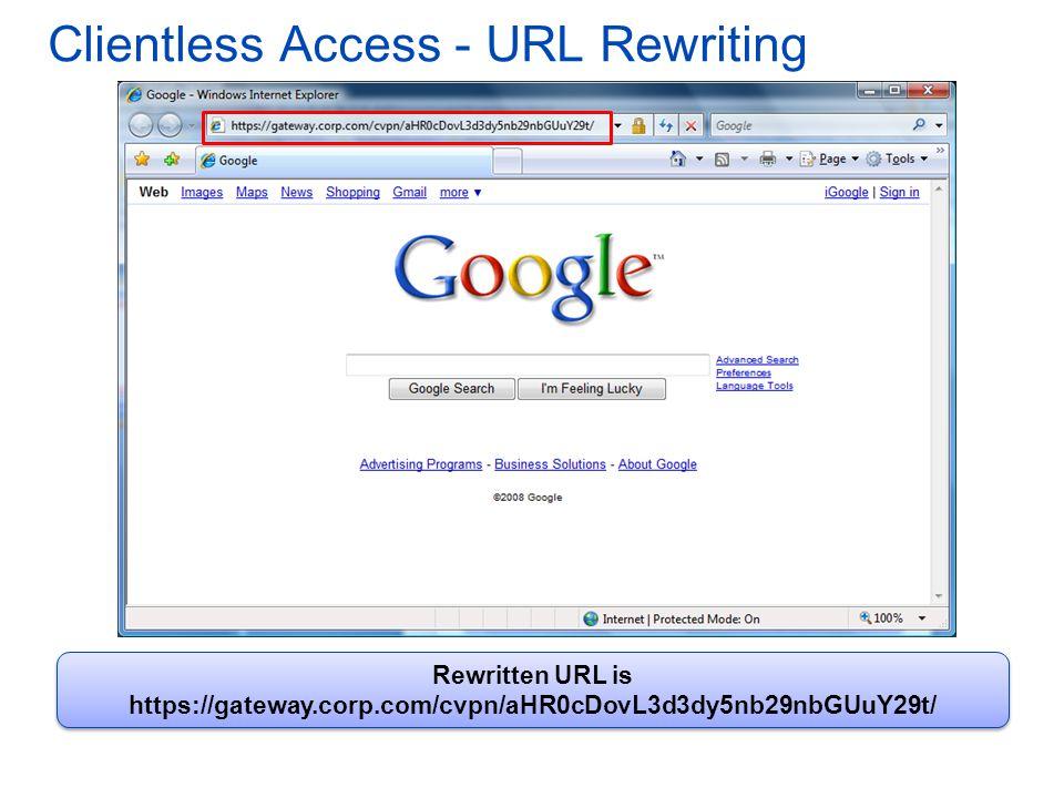 Clientless Access - URL Rewriting
