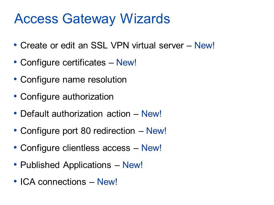 Access Gateway Wizards