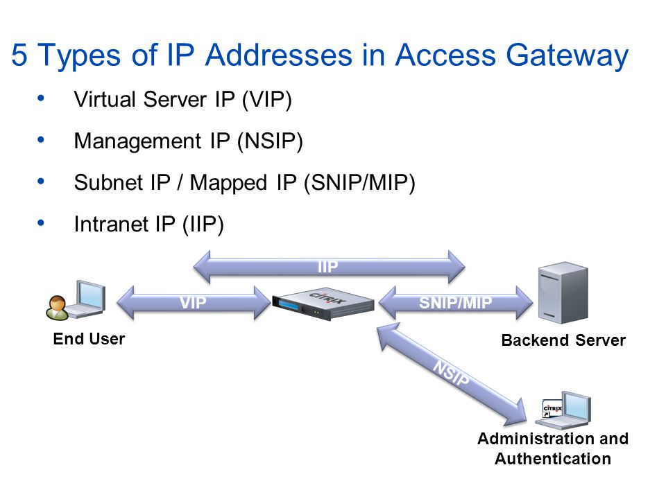 5 Types of IP Addresses in Access Gateway