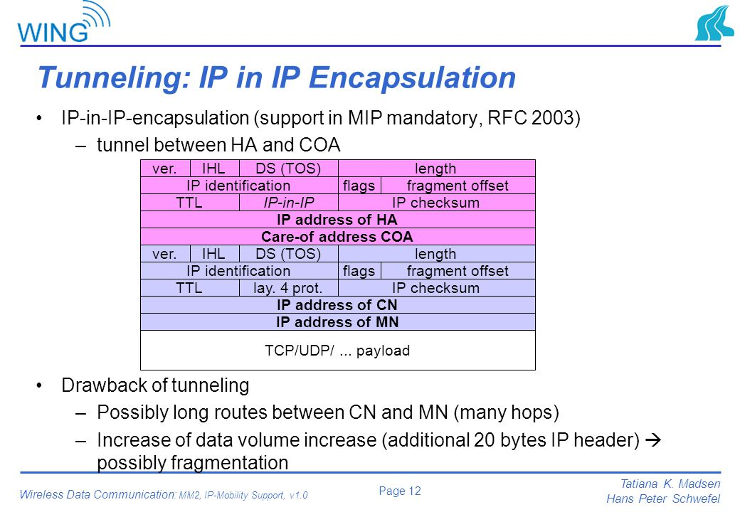 Tunneling: IP in IP Encapsulation