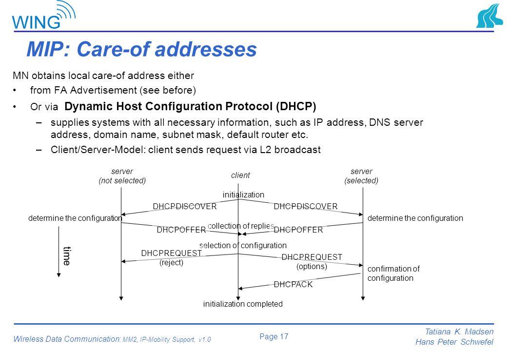 MIP: Care-of addresses