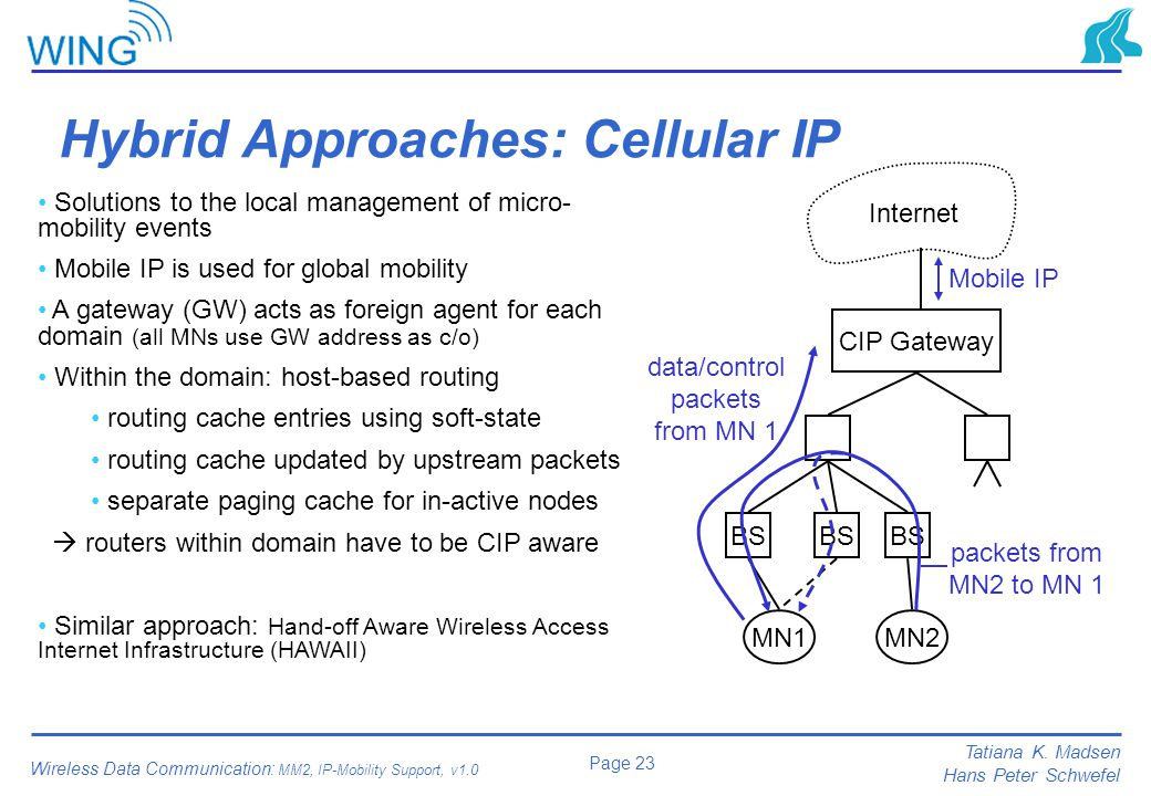 Hybrid Approaches: Cellular IP