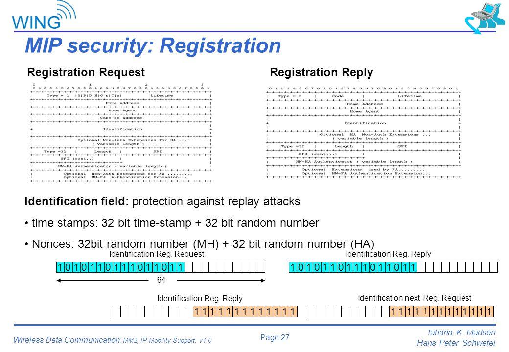 MIP security: Registration