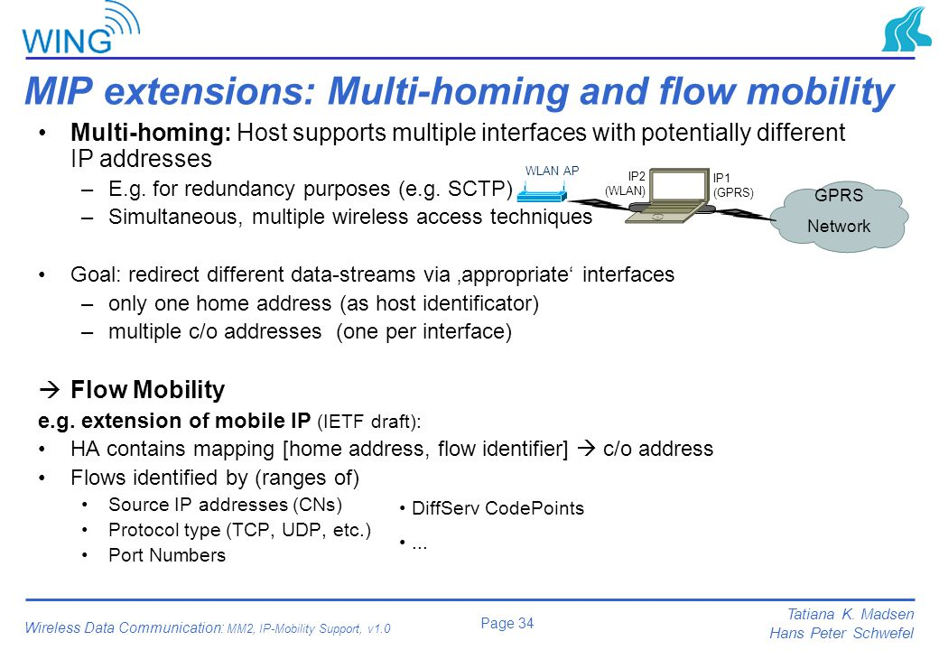 MIP extensions: Multi-homing and flow mobility