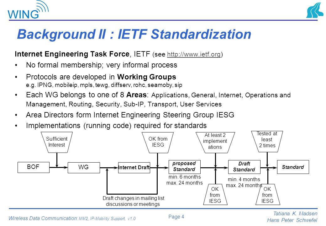 Background II : IETF Standardization
