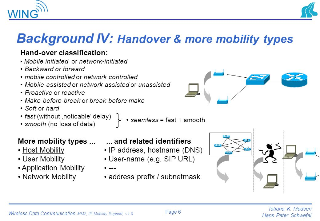 Background IV: Handover & more mobility types