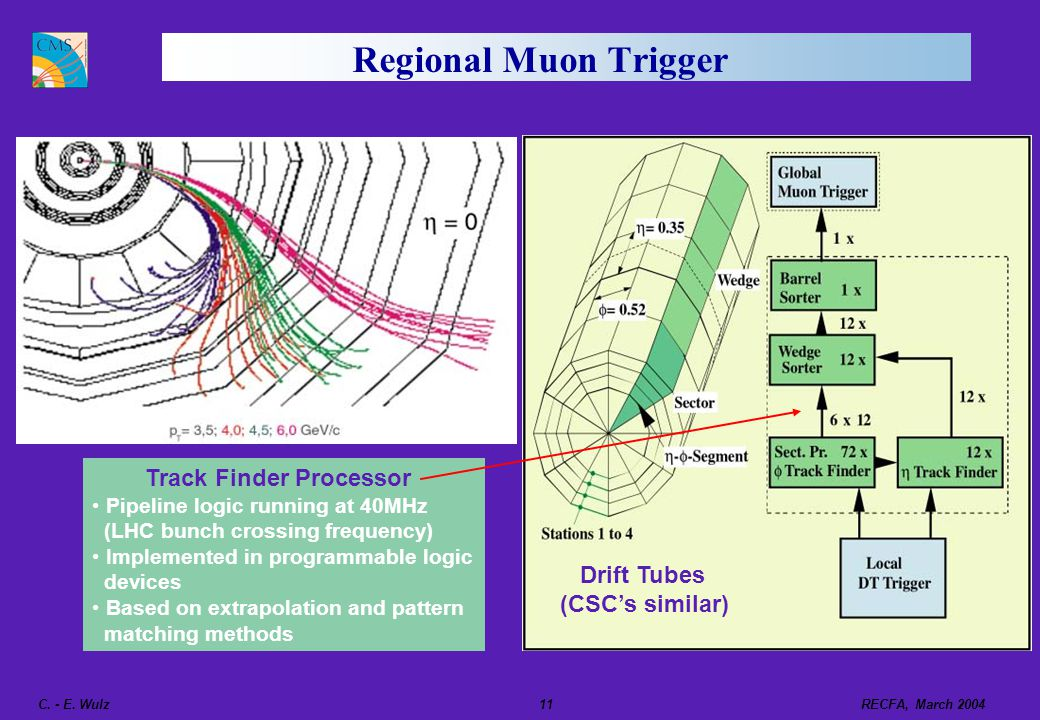 Regional Muon Trigger Track Finder Processor Drift Tubes