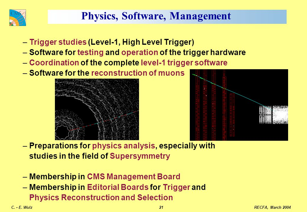 Physics, Software, Management