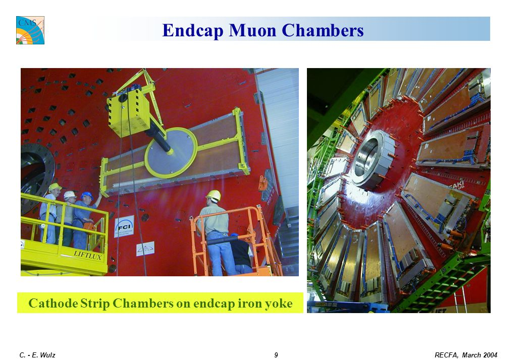 Cathode Strip Chambers on endcap iron yoke