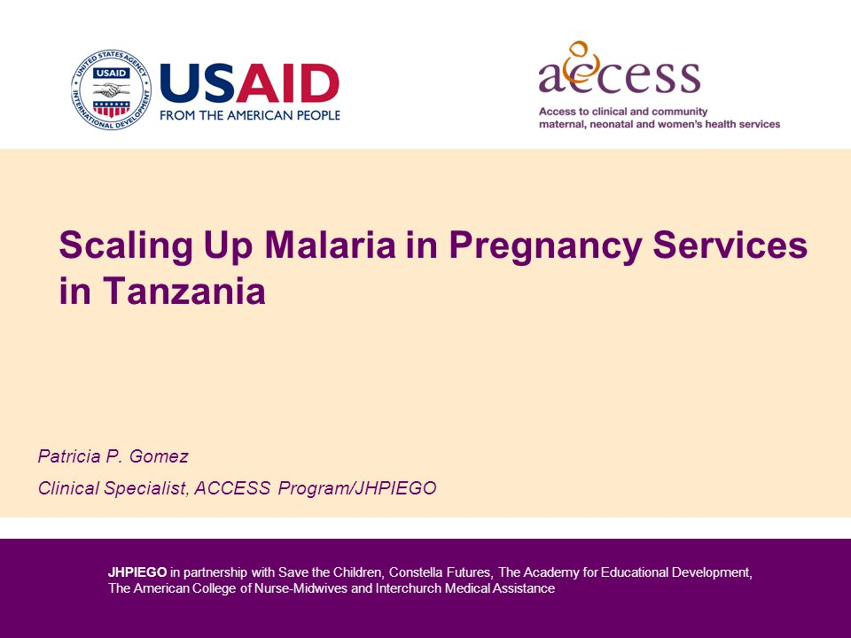 Scaling Up Malaria in Pregnancy Services in Tanzania