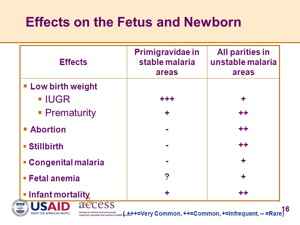Effects on the Fetus and Newborn