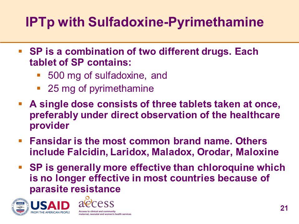 IPTp with Sulfadoxine-Pyrimethamine