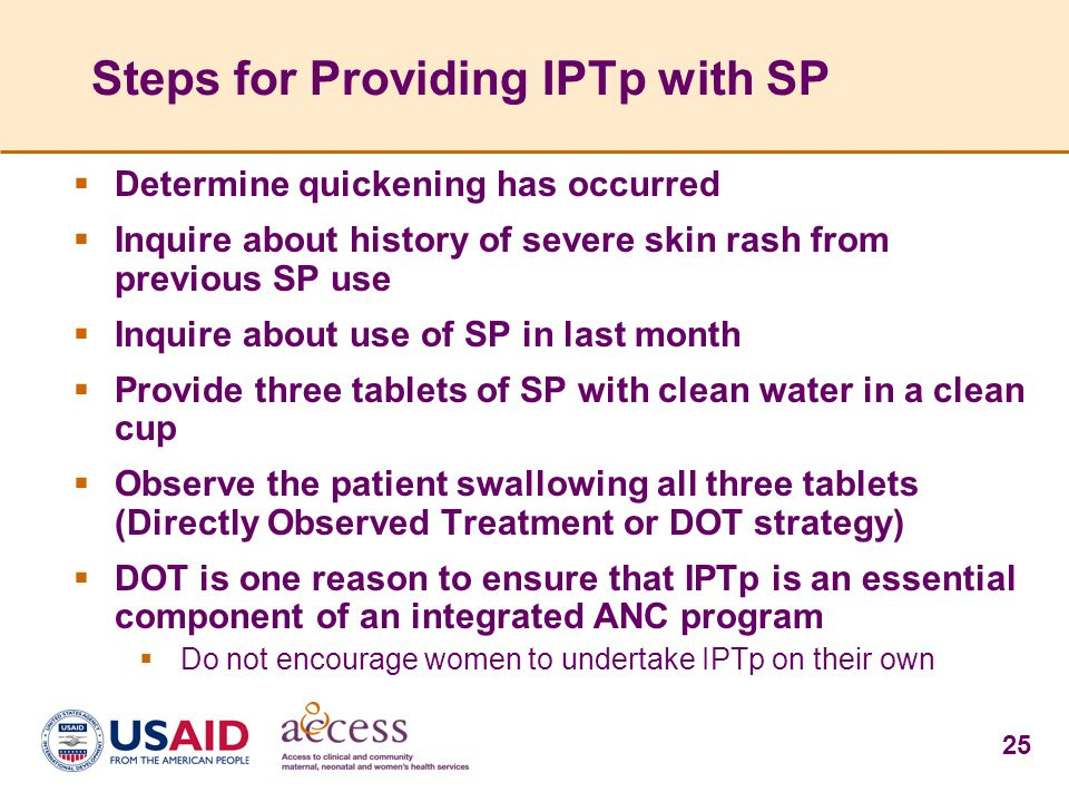 Steps for Providing IPTp with SP