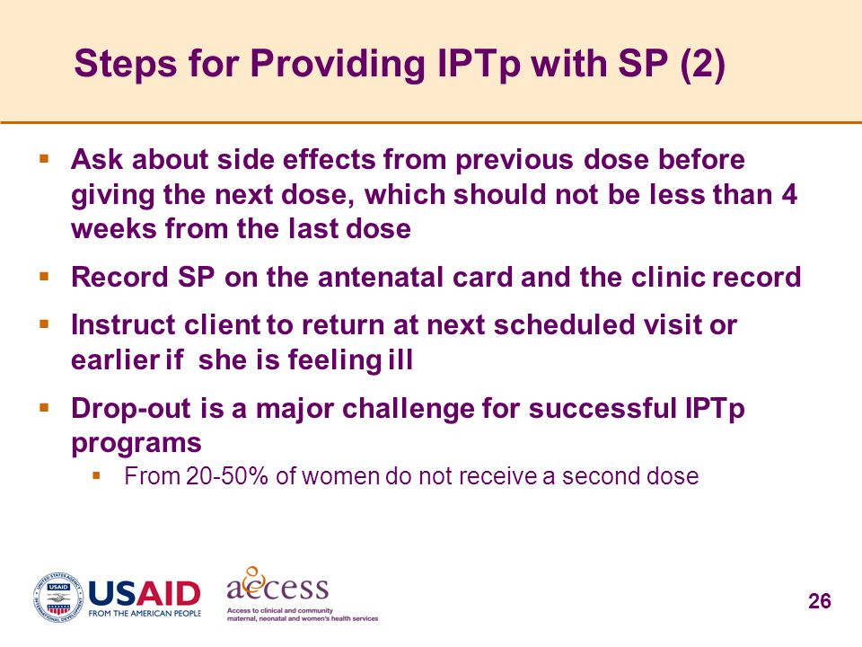 Steps for Providing IPTp with SP (2)