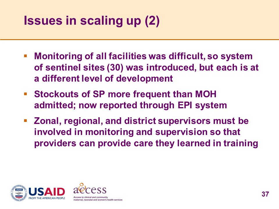 Issues in scaling up (2)