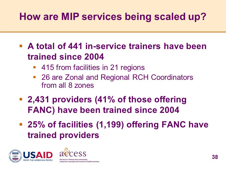 How are MIP services being scaled up