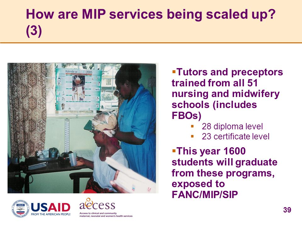 How are MIP services being scaled up (3)