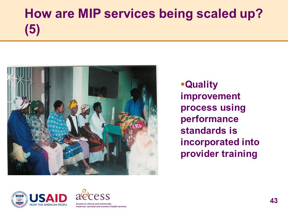How are MIP services being scaled up (5)