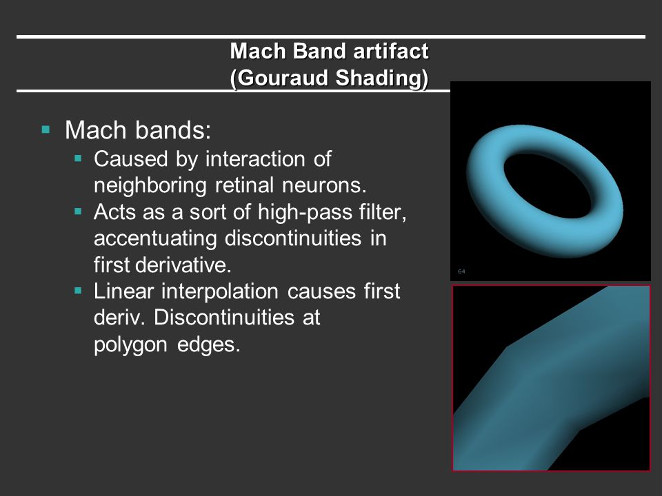 Mach Band artifact (Gouraud Shading)