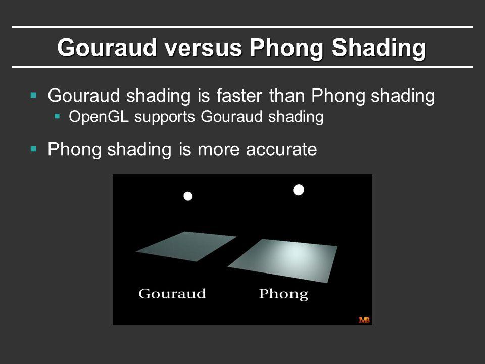 Gouraud versus Phong Shading