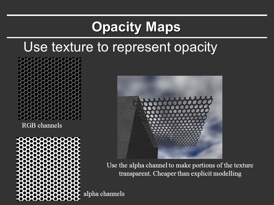 Use texture to represent opacity
