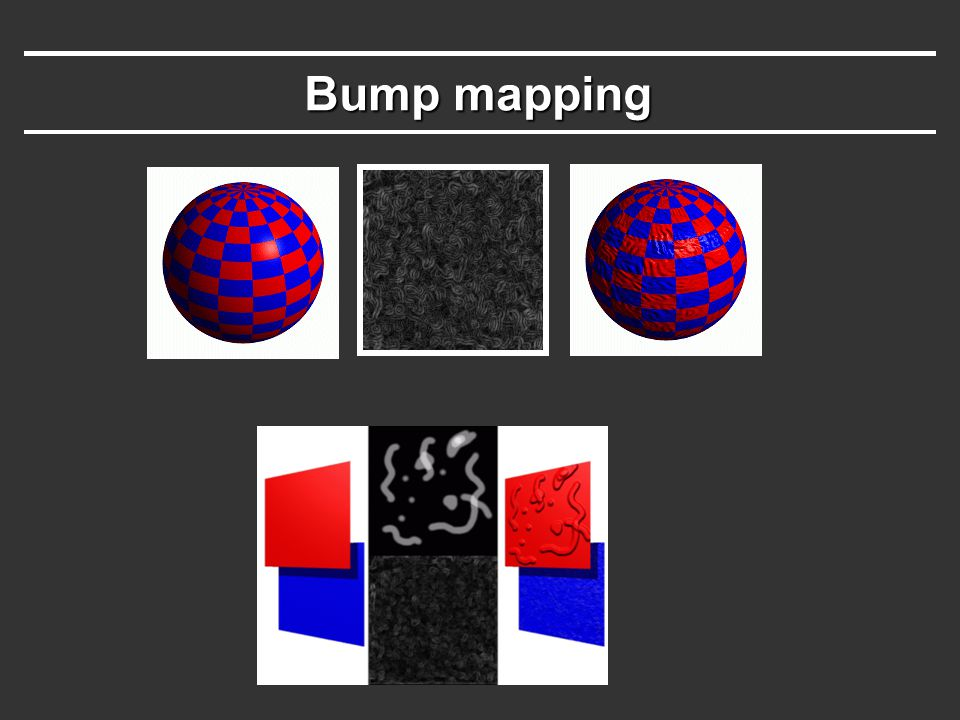 Bump mapping