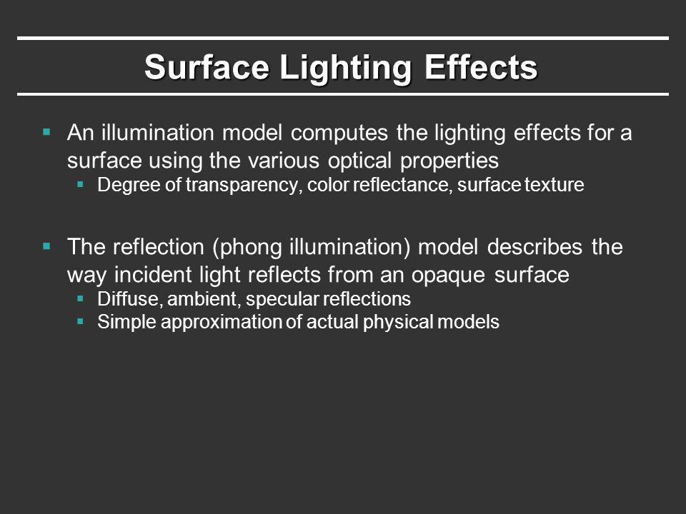 Surface Lighting Effects