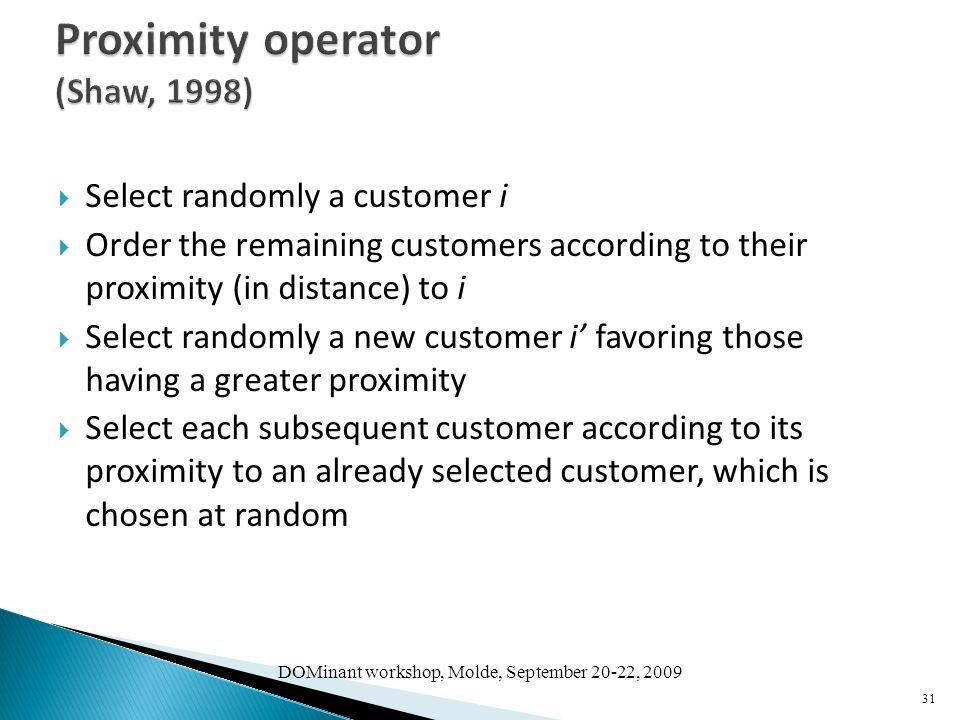 Proximity operator (Shaw, 1998)