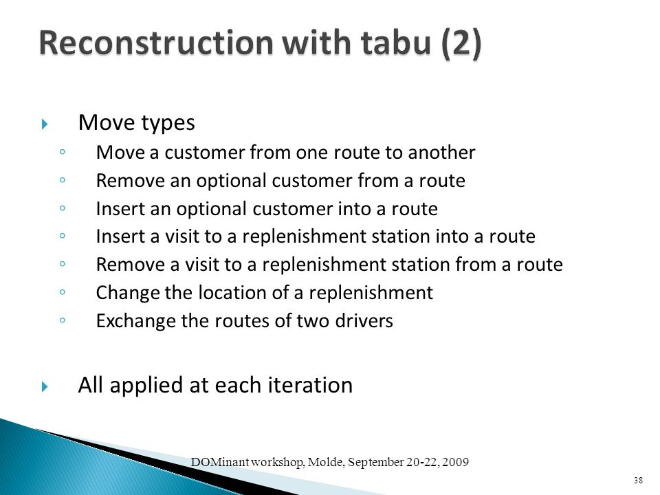 Reconstruction with tabu (2)