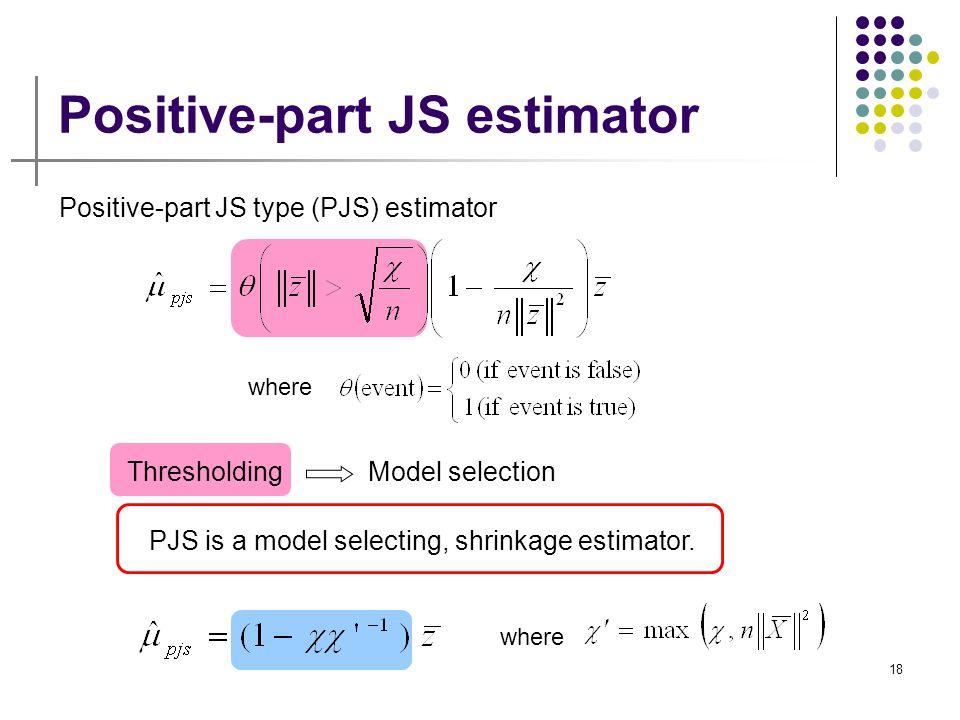 Positive-part JS estimator