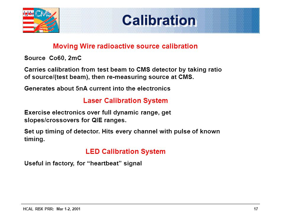Calibration Moving Wire radioactive source calibration