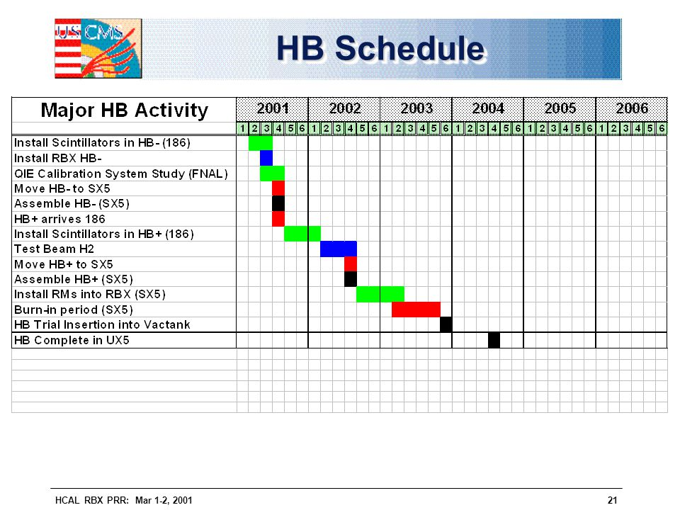 HB Schedule