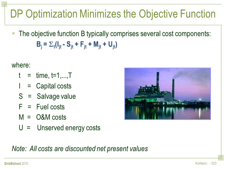 DP Optimization Minimizes the Objective Function